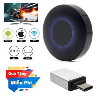 ( Quà tặng Đầu OTG cho điện thoại cổng Type C ) Thiết bị HDMI không dây Q1 Dongle hỗ trợ kết nối cổng AV - Wifi Display Dongle Q1 - HDMI Dongle Q1 hỗ trợ HDMI và AV trình chiếu từ Smartphone lên Tivi thumbnail