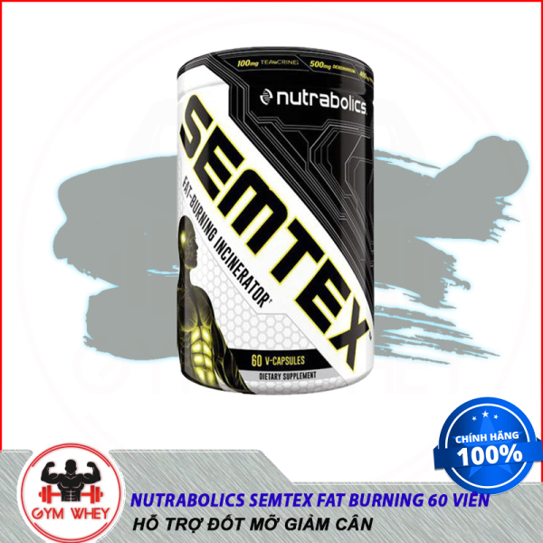 [Sale] Thực Phẩm Bổ Sung Hỗ Trợ Giảm Mỡ Nutrabolics Semtex Fat Burning (60 viên) - Chính hãng cao cấp