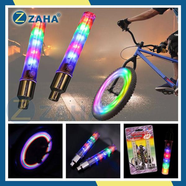 [Xem video] Đèn led xe máy, đèn led trang trí [NGŨ SẮC] gắn van xe đạp, xe máy, ô tô ZAHA