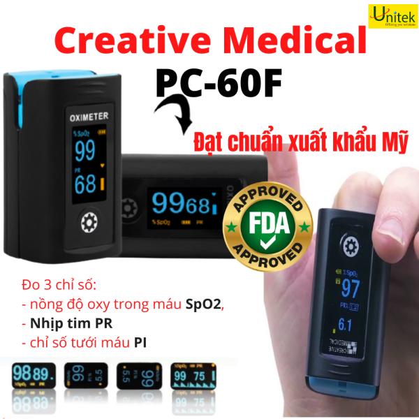 Máy đo nồng độ oxy trong máu SpO2, nhịp tim Creative Medical PC-60F bán chạy
