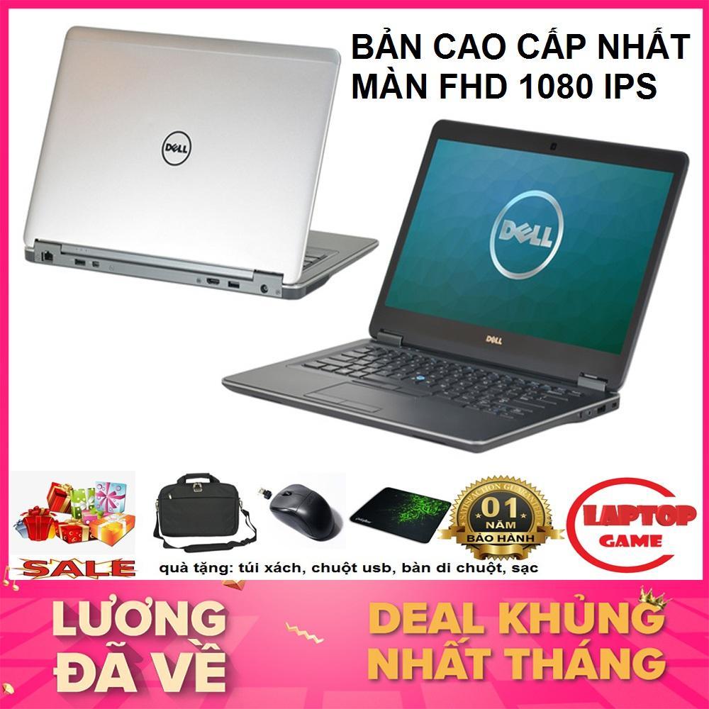 SIÊU MỎNG Dell Latitude E7440 Core i5-4300U/ ram 8G/ SSD 256G/ VGA on Intel HD 4400, màn 14 FHD1920*1080 IPS/ nặng 1.5kg/ vỏ nhôm / dòng laptop mỏng nhẹ