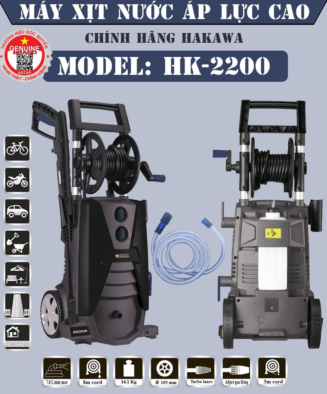 Máy Xịt Rửa Chính Hãng HAKAWA HK-2200W - Máy xịt rửa chuyên dụng cho thợ chuyên nghiệp