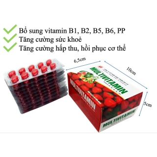 viên uống Multivitamin - Giúp bổ sung Vitamin B1, B2, B5,B6,PP, tăng cường sức khỏe, tăng cường hấp thu, hồi phục cơ thể- hộp 100 viên 2