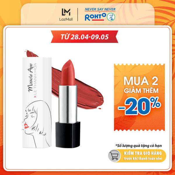 Son lì Miracle Apo Lipstick Matte x Lê Thanh Hòa Vibrant 4g (Hồng đào)