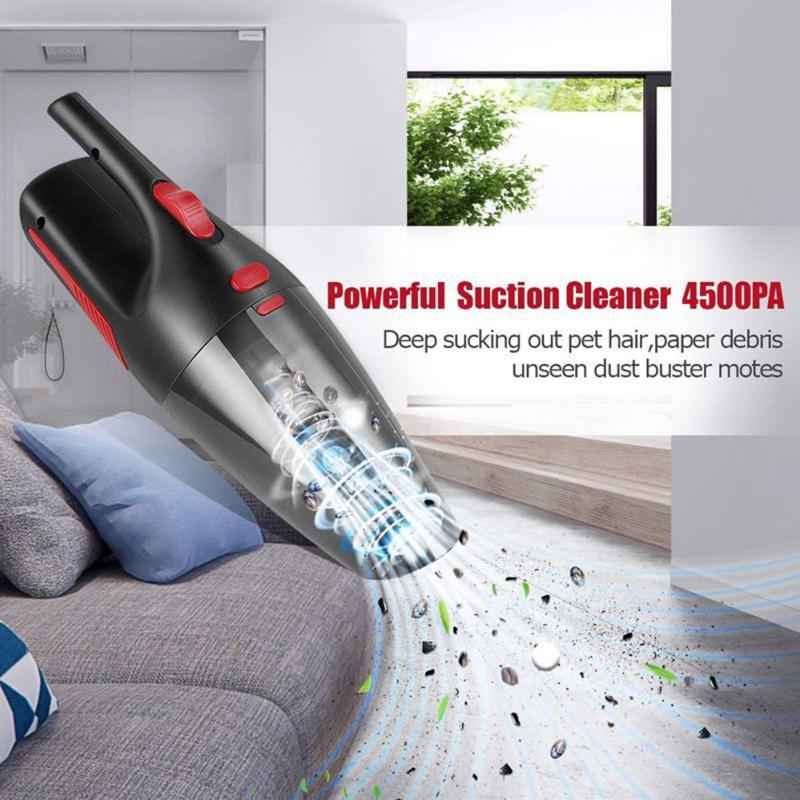 Máy hút bụi mini cầm tay 12v/120w siêu khỏe giúp vệ sinh xe mọi lúc mọi nơi
