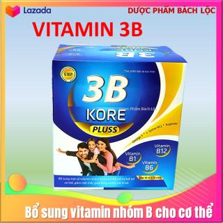 Viên uống bổ sung vitamin 3B Kore Pluss Giúp bồi bổ sức khỏe, hỗ trợ bổ thần kinh, giảm đau xương khớp hộp 100v thumbnail