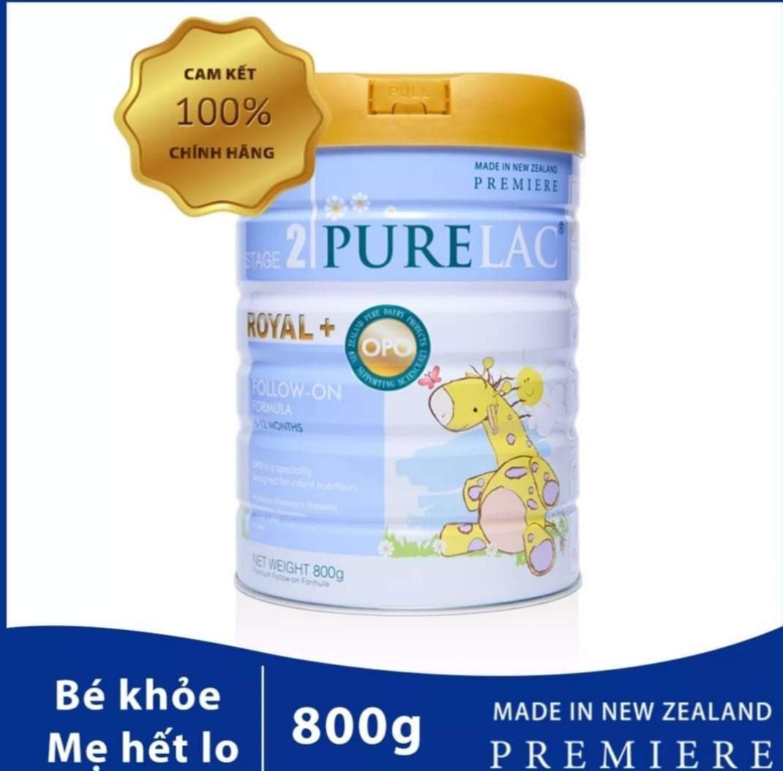 Sữa bột công thức PureLac Royal+ (Stage 2) hộp 800gr cho bé từ 6 dến 12 tháng