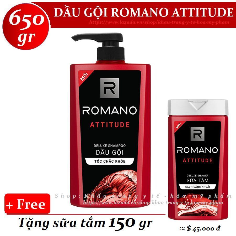 Romano - Dầu gội Hương nước hoa Attitude 650 gr + Tặng sữa tắm 150 gr giá rẻ