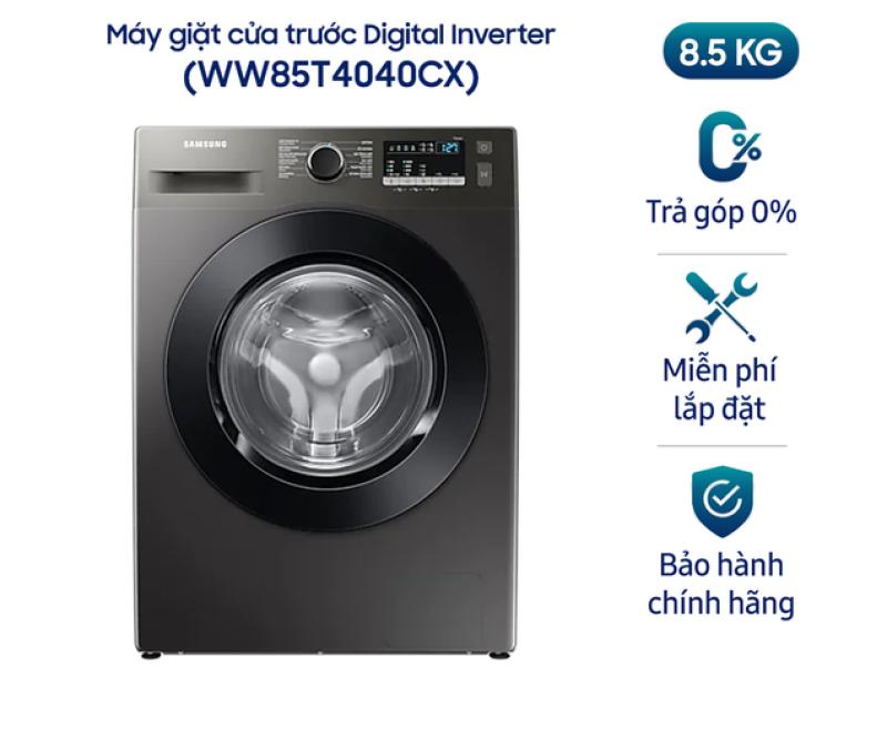 Máy giặt Samsung cửa trước Digital Inverter 8,5kg (WW85T4040CX) chính hãng