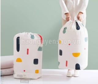 Túi đựng chăn màn quần áo dạng tròn (mẫu ngẫu nhiên) thumbnail