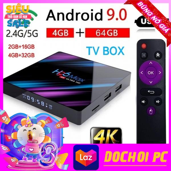 Hộp TV Thông Minh H96MAX - RK3318 TiVi Box android 9.0 HD 1080P 4K 64G Chip Quad-Core Lõi Tứ Có Điều Khiển Bằng Giọng Nói Netflix Youtube Android Set-Top Box IPTV Media Player