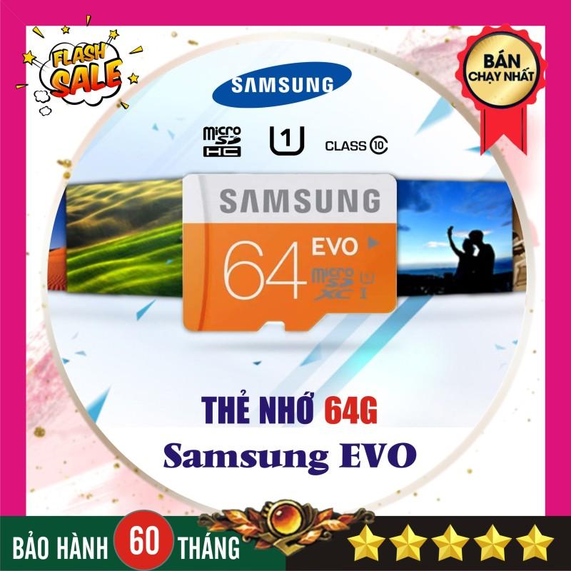 Thẻ nhớ 64GB Samsung Evo plus (Kèm Adapter SD) - Nhập khẩu Bảo hành 5 năm!