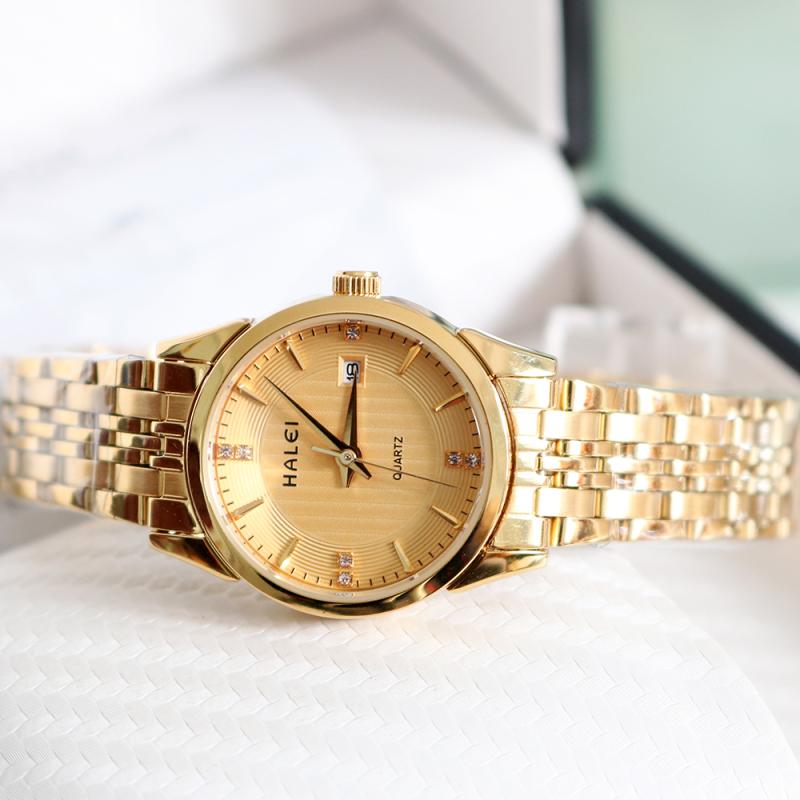 Đồng hồ nữ HALEI 2266 dây thép không gỉ cao cấp (vàng)