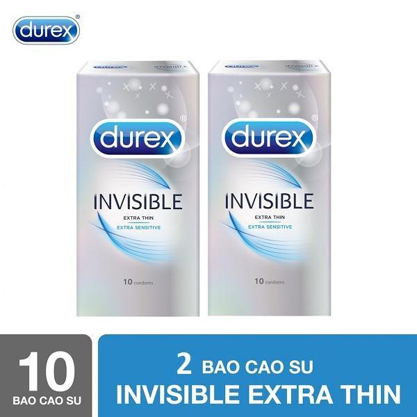 Bộ 2 Hộp Bao cao su Durex Invisible 10s - Hãng phân phối chính thức