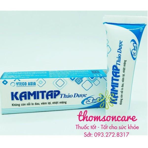 Kem bôi nhiệt miệng từ thảo dược Kamitap - bảo vệ răng lợi khử mùi hôi sản phẩm có nguồn gốc xuất xứ rõ ràng sử dụng dễ dàng cam kết hàng nhận được giống với mô tả giá rẻ
