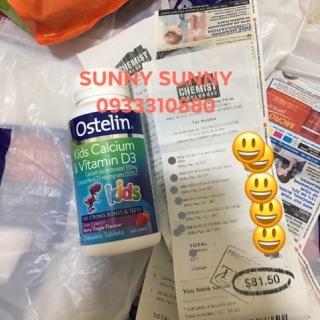 Viên nhai canxi Ostelin Calcium 90 viên. thumbnail