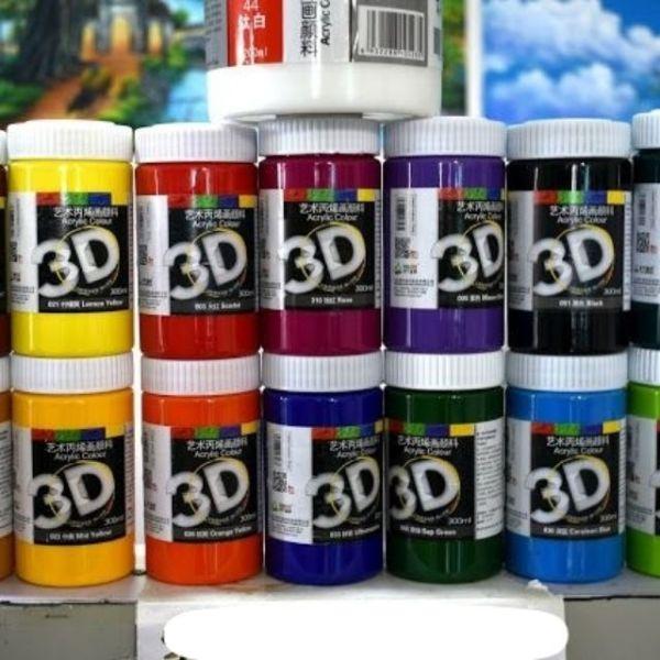Màu Acrylic 3D vẽ mọi chất liệu 300ml ( bản màu 2)