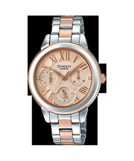 Đồng hồ nữ Casio SHEEN SHE-3059SPG-9AUDR Dây kim loại mạ màu vàng hồng, 6 kim độc đáo thumbnail