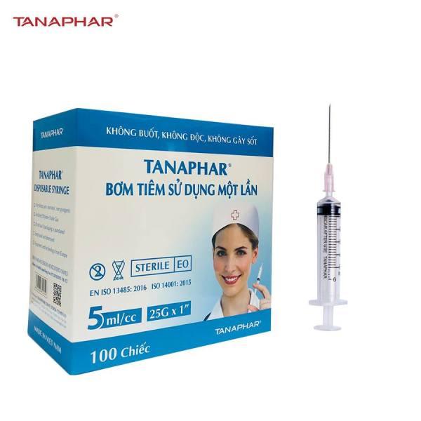 Bơm tiêm Tanaphar 5ml/cc Hộp 100 cái cao cấp