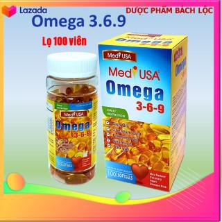 [hộp 100 viên] Viên dầu cá Ome.ga 369 Medi USA Bổ não, sáng mắt, khỏe mạnh tim mạch, tăng cường trí nhớ - Hộp 100 viên thành phần dầu cá 1000mg, EPA 180mg, DHA 120mg thumbnail