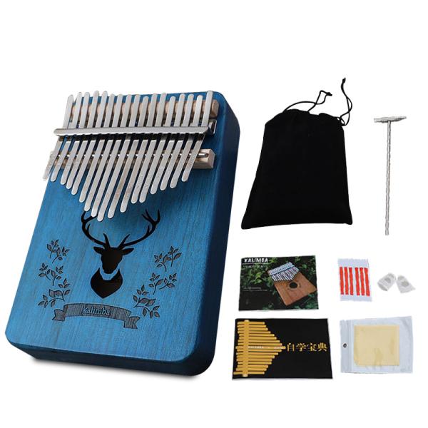 [Phụ kiện miễn phí] INSOUND Di động Kalimba 17 Keys Ngón tay cái Piano Kalimba Bàn phím ngón tay Piano Đàn Piano Gỗ gụ Nhạc cụ với Túi đựng Búa điều chỉnh Miễn phí