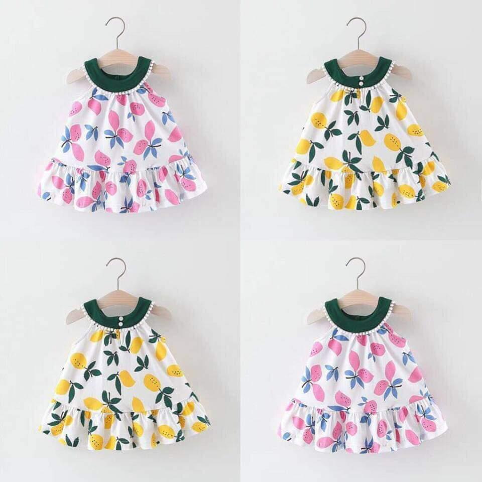 [MẪU MỚI] Váy Xoài Chất Tơ Đũi Xinh Xắn Cho Bé Gái 8-18kg