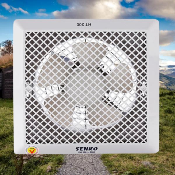 Quạt Hút Thông gió Âm trần SENKO HT 200 (30W) 2 chiều hút và thổi Hàng chính hãng,Quạt hút SENKO siêu bền làm mát làm thoáng không khí cho ngôi nhà bạn