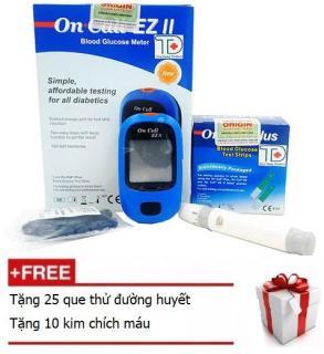 Máy đo đường huyết On Call EZ II tặng 25 que thử đường huyết và 10 kim chích máu thumbnail