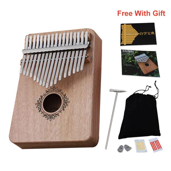 [Phụ kiện miễn phí] INSOUND 17 phím Đàn piano cầm tay Kalimba Ngón tay cái bằng gỗ Gụ gỗ Bàn phím đàn piano ngón tay với Nhạc cụ với Túi điều chỉnh Búa miễn phí