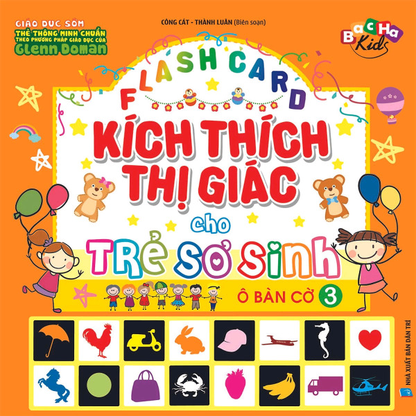 Mua Flashcard  Kích Thích Thị Giác Cho Trẻ Sơ Sinh 3 - Ô Bàn Cờ