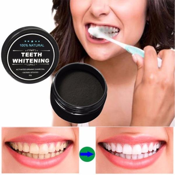 Bột đánh răng cao cấp bằng than tre hoạt tính cao cấp 30g - bột khử mùi hôi răng miệng hiệu quả cấp tốc – chất làm trắng răng bảo vệ men răng bột tẩy trắng răng– chăm sóc răng miệng - hiệu quả cấp tốc sau 3 ngày sử dụng – làm