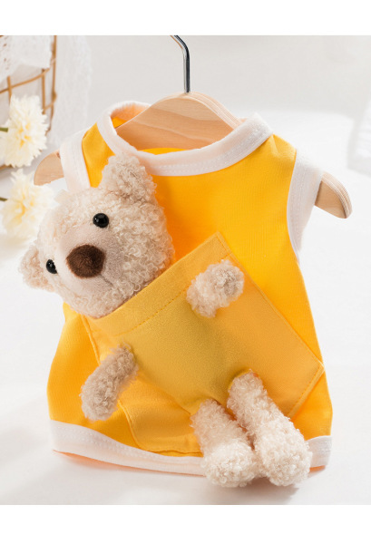áo ba lỗ cõng gấu bông cho chó mèo
