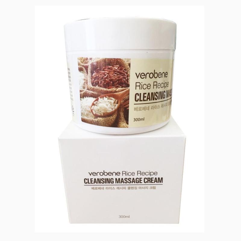 Kem Tẩy Trang Massage VEROBENE RICE RECIPE Hàn Quốc nhập khẩu