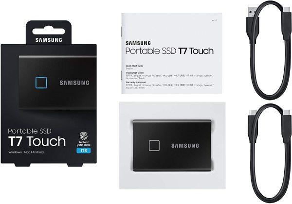 Bảng giá [Trả góp 0%]Ổ cứng di động SSD Portable Samsung T7 Touch - USB 3.2 Gen 2 Phong Vũ
