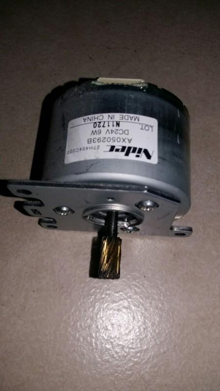 Bộ 2 cái motor không chổi than BLDC, điện áp 12-24Vdc, công suất 6W, hiệu Nidec (hoặc Servo) được tháo từ máy Photocopy.
