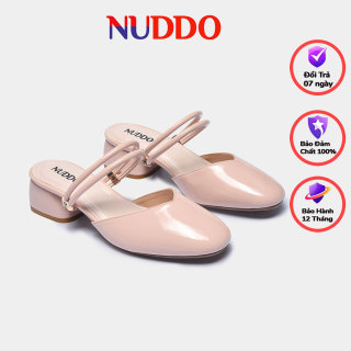 Giày cao gót thời trang nữ công sở Nuddo 3cm gót vuông da bóng phong cách Hàn Quốc thumbnail