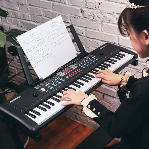 [Thu thập mã giảm thêm 30%] [SIZE L]  Đàn Piano Đàn Điện Tử 61 Phím Kèm mic Cho Bé Đàn Organ - Kèm video HDSD