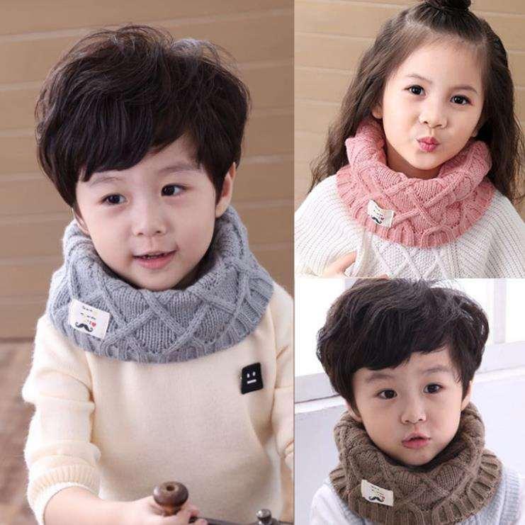 Giá bán Khăn ống len quàng cổ cho bé- khăn len quàng cổ cho bé (shop giao màu ngẫu nhiên)