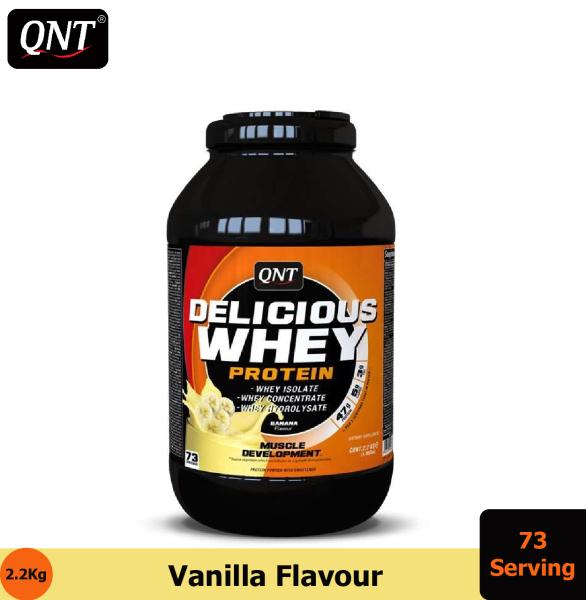 Thực phẩm bổ sung QNT Delicious Whey Protein 2.2kg Vani - HSD: Cuối Tháng 1, 2021 cao cấp