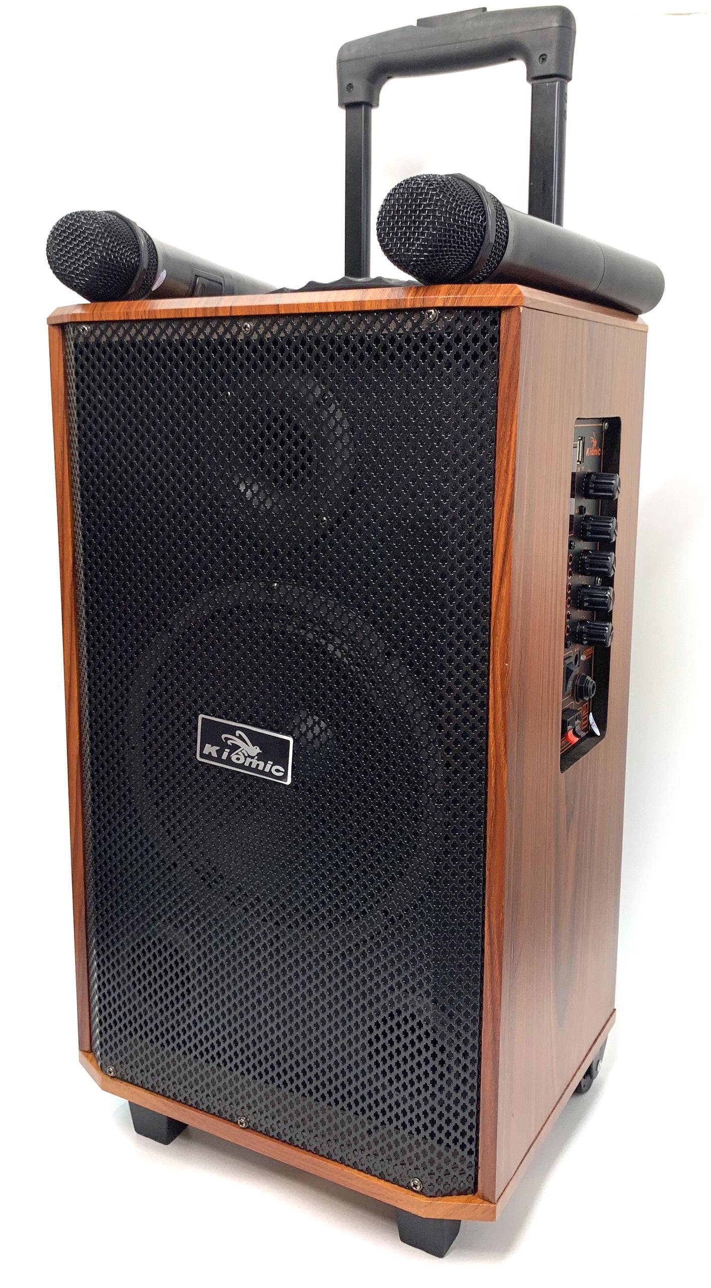Loa Vali Kéo Di Động Tặng Kèm 2 Micro Không Dây Karaoke Bluetooth K88 K89 Âm Thanh Siêu Đỉnh 200W