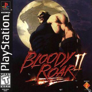 bloody roar 1 va 2 game ps1 thumbnail
