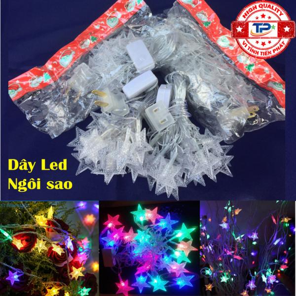 Bảng giá Dây đèn Led ngôi sao dài 4m nhấp nháy nhiều màu dùng trang trí Sân Vườn, Gia Đình, Quán, Noel, ... Chúc Mừng Năm Mới quà Tết 2021