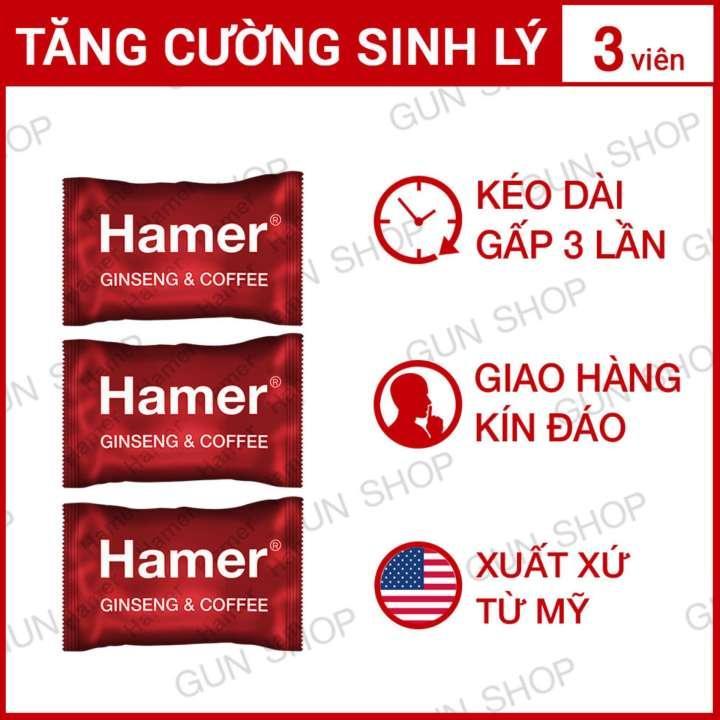 Bộ 3 Kẹo Sâm Malaysia Hamer - Kéo Dài Thời Gian Quan Hệ Cải Thiện Ham Muốn Sức Khỏe Nam Giới - 3 Viên Nhật Bản