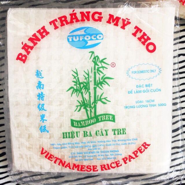 Hot Deal Khi Mua Bánh Tráng Gỏi Cuốn Ba Cây Tre Size 16cm Vuông