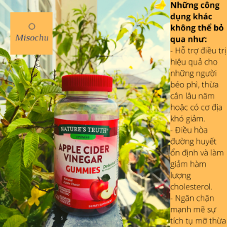 Viên Nhai Giấm Táo Giúp Giảm Cân Giữ Dáng Apple Cider Vinegar Gummies Nature s Truth 120 Viên - Misochu thumbnail