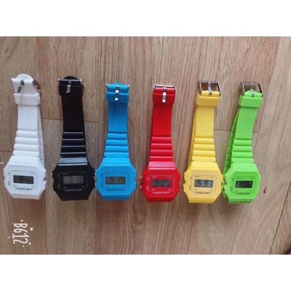 Nơi bán Đồng hồ điện tử nam nữ Unisex dây nhựa CA004 phối theo đồ cực đẹp BL79