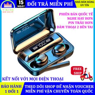 Tai nghe Bluetooth BTH F9 5 tai nghe không dây âm thanh 9D, chống nước, chống bụi, kén sạc dung lượng pin cao, hiển thị phần trăm pin, dùng cho mọi điện thoại [Bảo hành 1 đổi 1] thumbnail