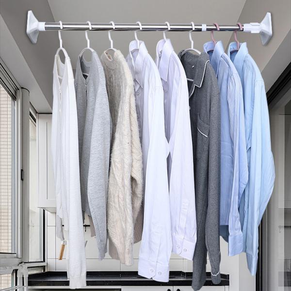 Thanh treo đa năng không cần khoan lỗ, thanh treo phòng ngủ, nhà tắm;thanh treo quần áo, rèm cửa, phơi đồ ban công