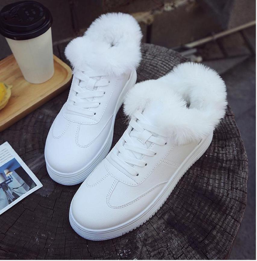 Giày thể thao cổ lông siêu xinh HK5 giá rẻ