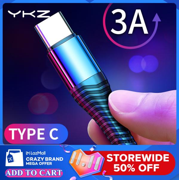 YKZ Cáp USB Type C Cho Samsung Xiaomi Huawei USB-C Cáp Sạc Type-C Dây Dữ Liệu Đồng Bộ Hóa Cáp Điện Thoại Sạc Nhanh Dây USB C